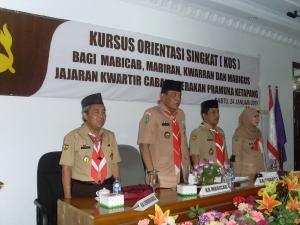 upacara pembukaan kursus